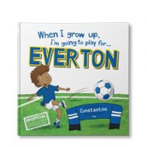 When I Grow Up, I'm Going to Play for Everton Personalised Book