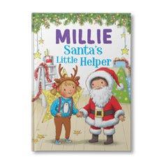 Santa's Little Helper Personalised Book for Girls