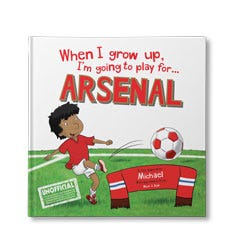 When I Grow Up, I'm Going to Play for Arsenal Personalised Book