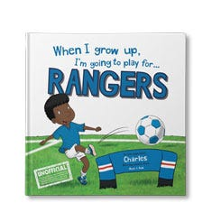 When I Grow Up, I'm Going to Play for...Rangers Personalised Book