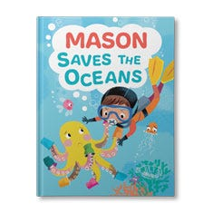 (Your Child) Saves the Ocean Personalised Book for Boys