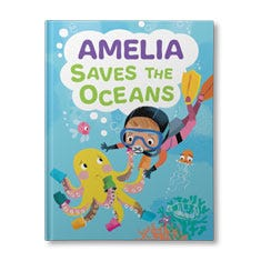 (Your Child) Saves the Ocean Personalised Book for Girls